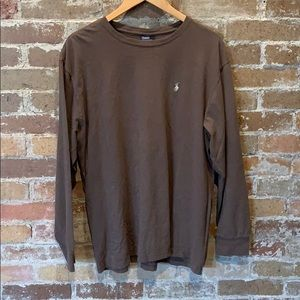 Men's Brown Sz L Polo Ralph Lauren Long Sleeve T